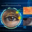 Stock Photo: Eye scanner