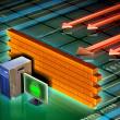 Computer firewall - Stockfoto