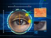 ögat scanner — Stockfoto