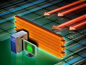 Computer firewall — Stock Photo