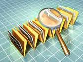 Document analysis — Stock Photo