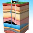 Stock Photo: Oil extraction