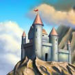 Stock Photo: Fantasy castle