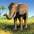 Stock Photo: Africelephant