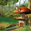 Mushroom house — Stock Photo #10153467