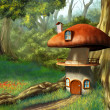 Mushroom house - Stock Photo