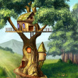 Tree house — Stock Photo