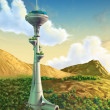 futuristic tower — Stock Photo