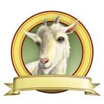 Goat label — Stock Photo