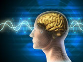Brain waves — Stockfoto