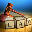 Law and gavel — Stock Photo