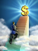 Business stairs — Stock Photo