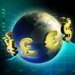 Currency world - Stock Photo