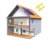 Solar thermal — Stock Photo