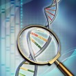 analisi del DNA — Foto Stock