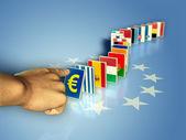 Euro domino — Stock Photo