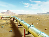 Gas pipeline — Stock Photo