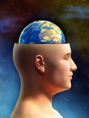 Earth brain — Stock Photo