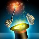 sihirbaz hilesi — Stok fotoğraf
