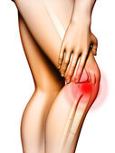 Knee pain — Stockfoto