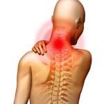 Neck pain — Stock Photo