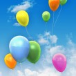 Balloons in the sky — Stock Photo