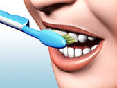 Toothbrushing — Stock Photo