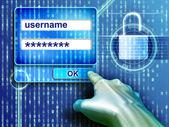 Passwort-schutz — Stockfoto
