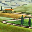 Tuscany farm - Foto Stock
