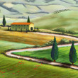 Tuscany farm — Stock Photo