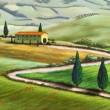 Постер, плакат: Tuscany farm