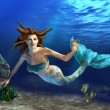 Swimming Mermaid - Foto Stock