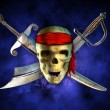 Pirate skull - Stock Photo