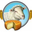Sheep cheese lable - Stock Photo