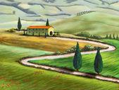 Tuscany farm — Stock Photo