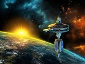 Stazione spaziale — Foto Stock