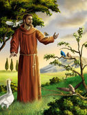 Saint Francis — Stock Photo