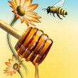 Stock Photo: Honey dipper