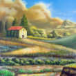Italian rural landscape — Stock Photo