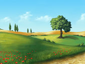 Serene landscape — Stock Photo