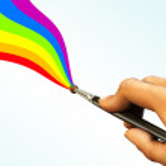 Painted rainbow — Stock Photo