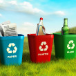 Recycle bins - Foto Stock