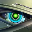 Robot eye - Stock Photo