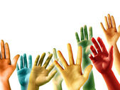 Raised Hands — Stock Photo
