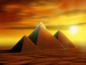 Mysterious pyramids — Stock Photo