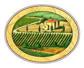 Wine label — Stock Photo