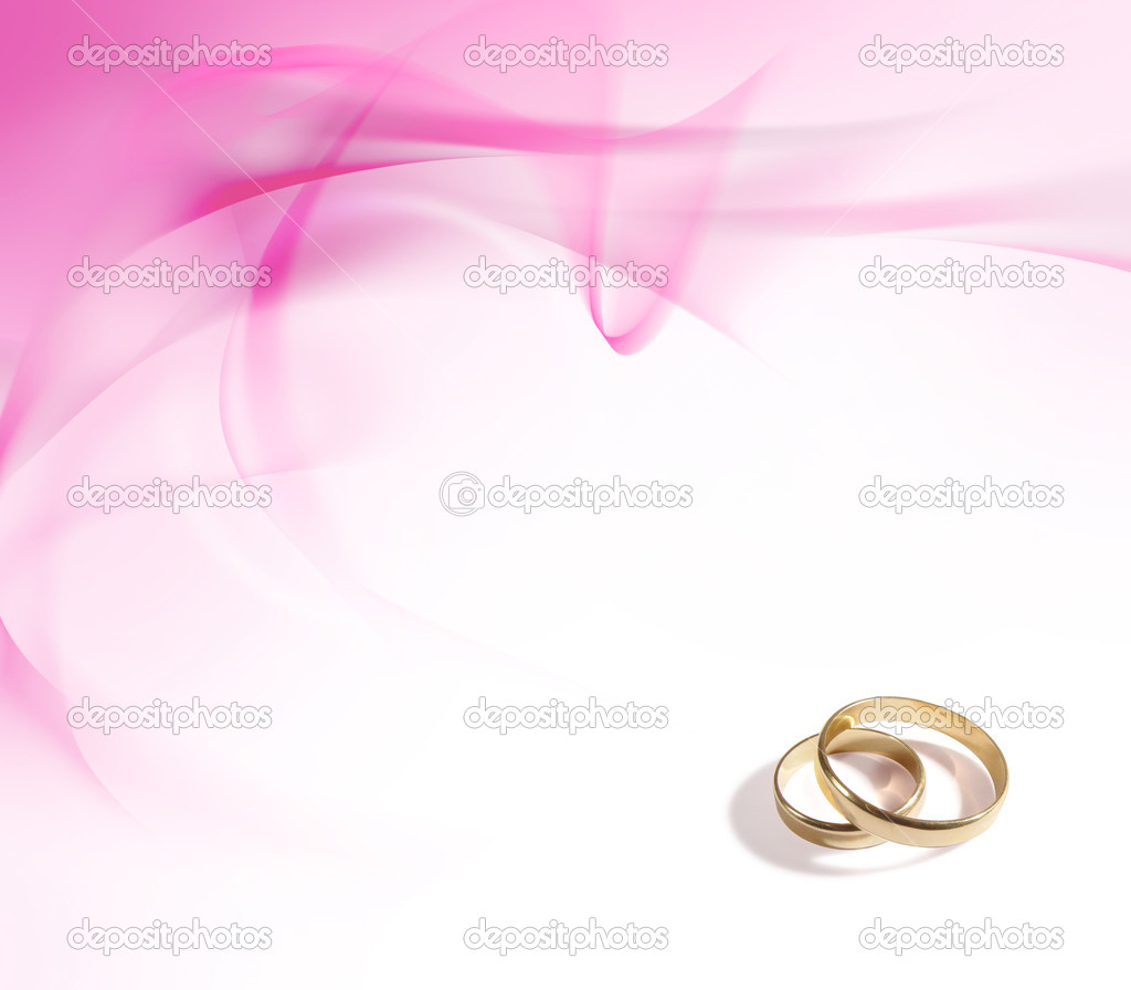 Wedding rings and delicate pink background — Stock Photo #8389069