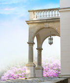 Classical portal with columns — Stock Photo
