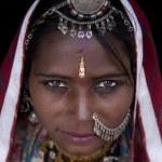 Porträt einer Indien-Rajasthan-Frau — Stockfoto