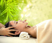 Spa beauty skin treatment woman — Stock Photo